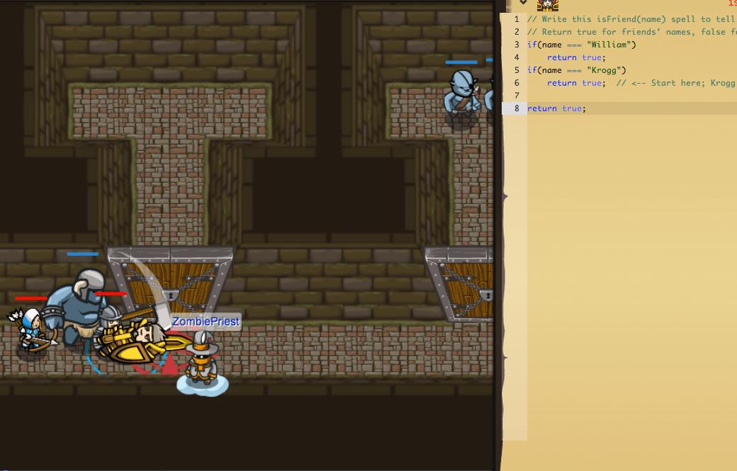 capture d'écran code combat