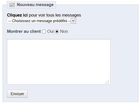 Envoyer message prédéfini