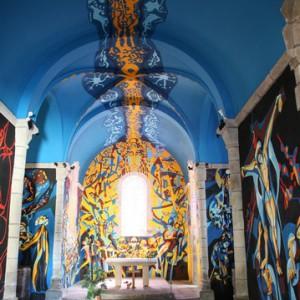Fresques église de Sous-Parsat ''© Pixelmaniac / Flickr''